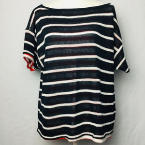 Michael Stars Ladies Striped 2-Layer Top Size M/L